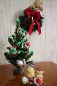 ワンちゃんのリボンクリスマスバージョン